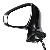 Mirror Power Folding - Driver Side, In-housing Signal Light, With Blind Spot Detection in Glass, Paintable