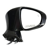 Mirror Power Folding - Passenger Side, In-housing Signal Light, With Blind Spot Detection in Glass, Paintable
