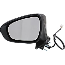 Mirror - Driver Side, Power, Heated, Folding, Paintable, With Turn Signal and Puddle Lamp, For Sedan