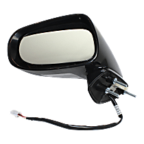 Mirror - Driver Side, Power, Heated, Folding, Paintable, With Turn Signal and Puddle Lamp, For Convertible