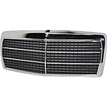 Grille Assembly - Chrome Shell with Primed Insert, with 11 Moldings