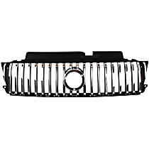 Grille Assembly - Painted Black Shell with Chrome Insert