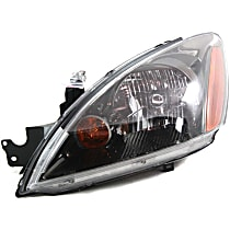 Driver Side Headlight, With bulb(s) - Except Evolution Model, Clear Lens, Black Interior