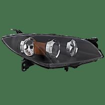 Sedan, Passenger Side Halogen Headlight, Without bulb(s)