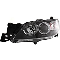 Sedan, Driver Side Halogen Headlight, Without bulb(s)