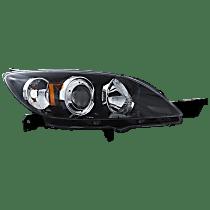 Passenger Side Halogen Headlight, Without bulb(s) - Hatchback