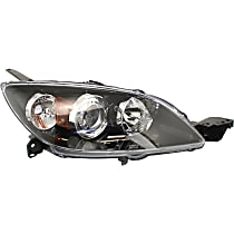 Passenger Side Halogen Headlight, Without bulb(s) - Hatchback