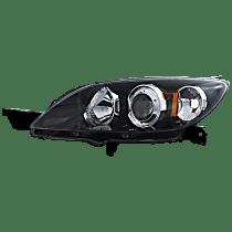 Driver Side Halogen Headlight, Without bulb(s) - Hatchback