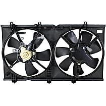 OE Replacement Radiator Fan - Fits 2.0L Non-Turbo, 2-Pin Plug