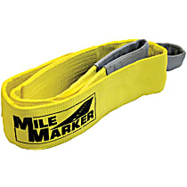 Mile Marker 19406 Tow Strap - Yellow, Nylon, Universal, Sold individually