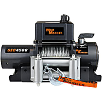 Mile Marker 76-50115BW Winch - Electric, 4500 lbs., Steel, Direct Fit