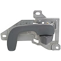 Front, Driver Side Interior Door Handle, Gray