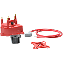 Distributor Cap - Red, Direct Fit, Sold individually