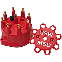 MSD 8431 Distributor Cap - Red, Universal, Sold individually