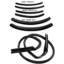 Metro Moulded RR 4500-H Roof Rail Seal - Direct Fit, Set of 7