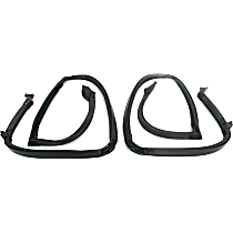RR 7002-B Weatherstrip Seal - Driver Or Passenger Side, Roof top, Direct Fit, Set of 2