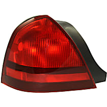Driver Side Tail Light, Without bulb(s) - Red Lens