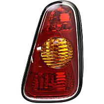 Hatchback, Passenger Side Tail Light, Without bulb(s)