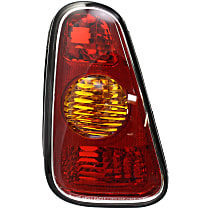 Hatchback, Driver Side Tail Light, Without bulb(s)
