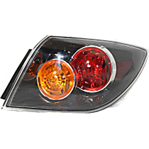 Passenger Side Tail Light, Without bulb(s) - Clear Lens, Hatchback