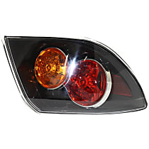 Driver Side Tail Light, Without bulb(s) - Clear Lens, Hatchback