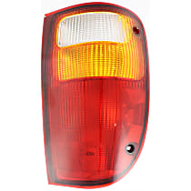Passenger Side Tail Light, Without bulb(s) - Amber, Clear & Red Lens