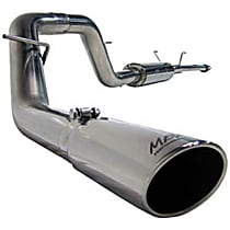 MBRP Installer S5100AL Exhaust System, 2.5 in., Cat-Back, Aluminized Steel, After Rear Tire (Passenger Side), 3.5 in. Polished Tip