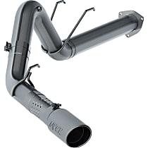 MBRP Installer S6289AL Exhaust System, 4 in., DPF-Back, Aluminized Steel, Rear (Passenger Side), 5 in. Polished Tip