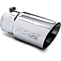T5074 Exhaust Tip - Polished, Stainless Steel, Single, Universal, Sold individually