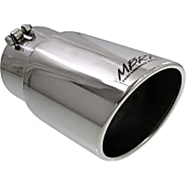 T5075 Exhaust Tip - Polished, Stainless Steel, Single, Universal, Sold individually