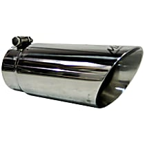 T5110 Exhaust Tip - Polished, Stainless Steel, Single, Universal, Sold individually