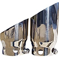T5111 Exhaust Tip - Polished, Stainless Steel, Dual, Direct Fit, Set of 2