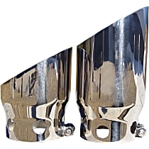 Exhaust Tip - Polished, Stainless Steel, Dual, Direct Fit, Set of 2