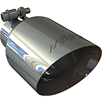 MBRP T5123 Exhaust Tip - Polished, Stainless Steel, Single, Universal, Sold individually