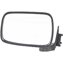Mirror - Driver Side, Folding, Chrome, Black Base