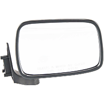 Mirror - Passenger Side, Folding, Chrome, Black Base