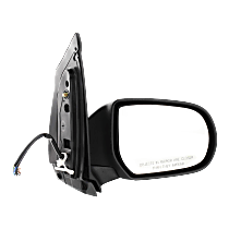 Mirror - Passenger Side, Power, Heated, Folding, Textured Black