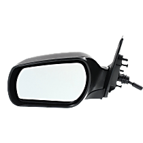 Mirror - Driver Side, Manual Remote, Paintable, For Sedan or Hatchback