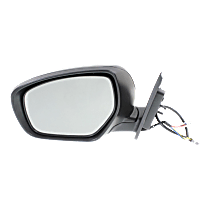 Mirror - Driver Side, Power, Heated, Paintable, With Turn Signal, and Memory