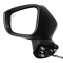 Mirror - Driver Side, Power, Heated, Paintable, With Turn Signal and Blind Spot Function, For Japan or Mexico Built Models