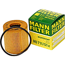 Mann-Filter HU 711/51 x Oil Filter - Cartridge, Direct Fit, Sold individually
