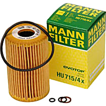 HU715/4X Oil Filter - Cartridge, Direct Fit, Sold individually