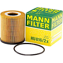 HU816/2X Oil Filter - Cartridge, Direct Fit, Sold individually