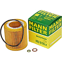 Mann-Filter HU 816 x Oil Filter - Cartridge, Direct Fit, Sold individually