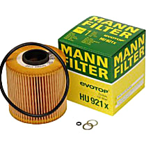 HU921X Oil Filter - Cartridge, Direct Fit, Sold individually