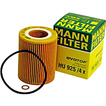 Mann-Filter HU 925/4 x Oil Filter - Cartridge, Direct Fit, Sold individually