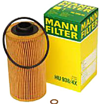 HU938/4X Oil Filter - Cartridge, Direct Fit, Sold individually