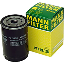 Mann-Filter W719/36 Oil Filter - Canister, Direct Fit, Sold individually