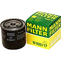 Mann-Filter W920/17 Oil Filter - Canister, Direct Fit, Sold individually