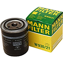 Mann-Filter W930/21 Oil Filter - Canister, Direct Fit, Sold individually